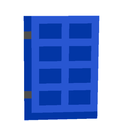 I always want in minecraft blue dors, and now I have XD