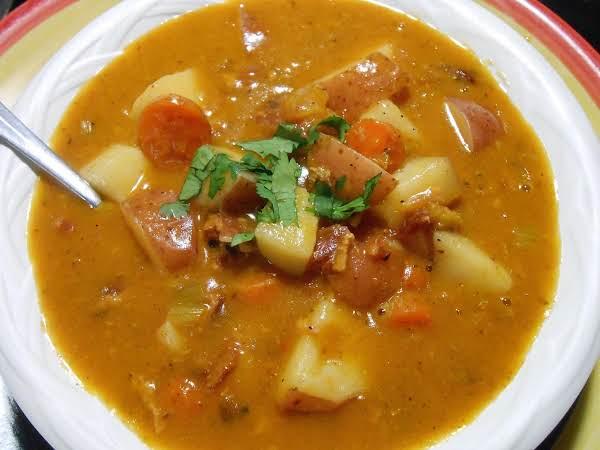 Creamy Bacon & Vegetable Soup
