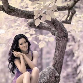 Sweet Smile by Chandra Sugiharto - People Portraits of Women ( model, false color, women )