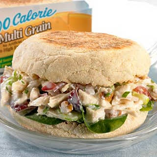 Chicken, Grape & Pecan Salad Sandwiches.