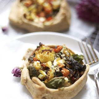 Roasted Vegetable Tart (Gluten Free, Dairy Free, Vegan)