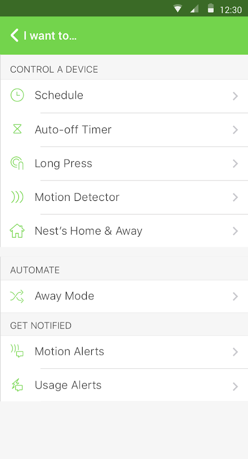 WeMo – Screenshot