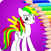 Little Coloring Book For Pony