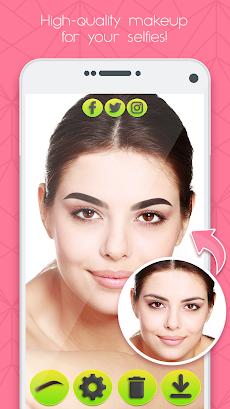 眉毛 メイクアップ 写真 加工 自撮り カメラ アプリ Androidアプリ