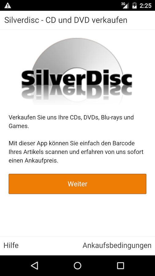 SilverDisc - verkaufe CD & DVD- screenshot
