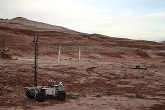 Photo: Project ARMES (York University, Canada) looks out at three of the gates in the Terrain Traversing Task.