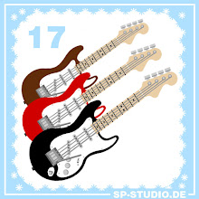 Photo: Day 17 of the www.sp-studio.de Christmas Special: Fender Stratocaster guitars in many colors! This will be the last guitar shape I include, I can't believe there are so many requests for them ;).