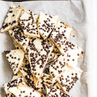 White Chocolate Cookie Dough Saltine Toffee.