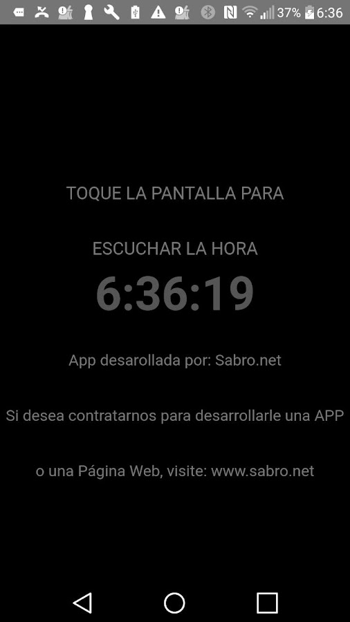Audio Reloj Tactil Nocturno- screenshot