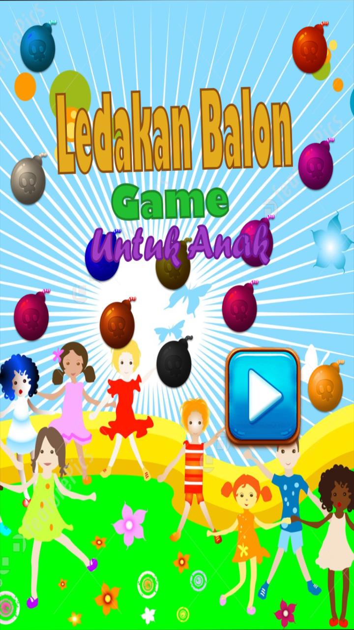 Скриншот ledakan balon game untuk anak