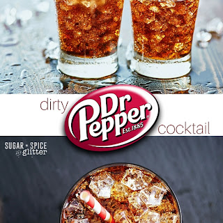 Dirty Dr Pepper Cocktail.