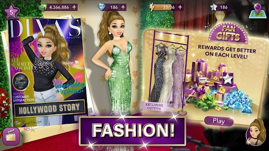 Hollywood Story Mod Apk Fashion Star 10.1 (Free Shopping) 5