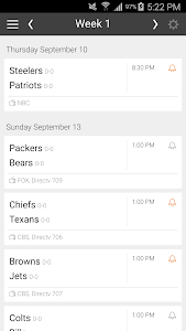 Football NFL Schedules Ad Free screenshot 4
