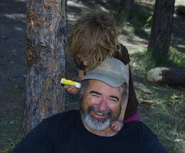 Photo: No sunburn on dad's ear today.