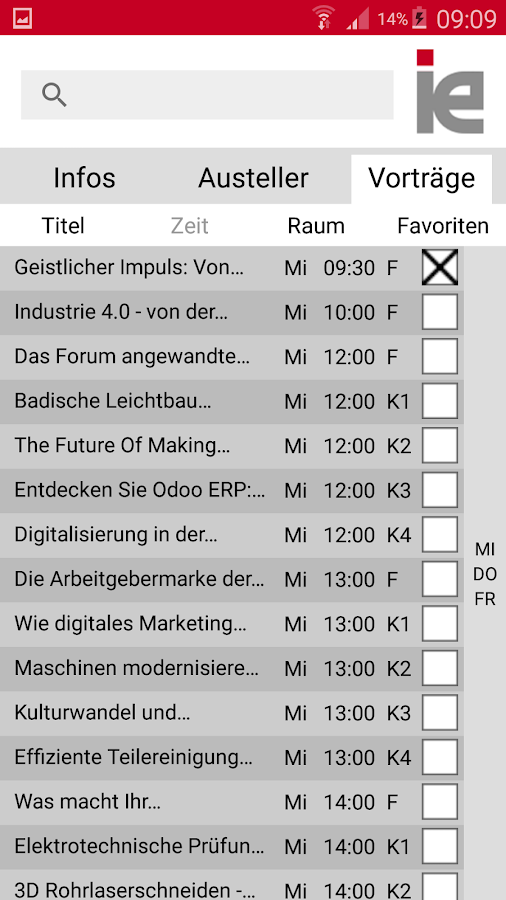 i+e Messe- screenshot