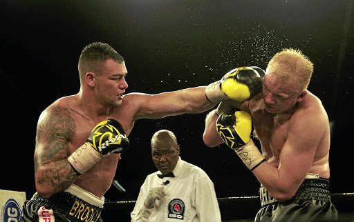 Kevin Lerena connects Dmytro Kucher with a straight left in their IBO world cruiserweight title fight at Emperors Palace on Saturday.