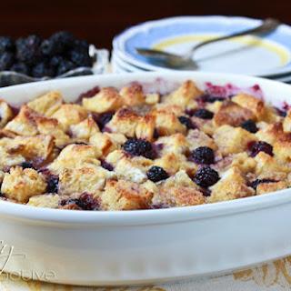 Blackberry Vanilla Bread Pudding