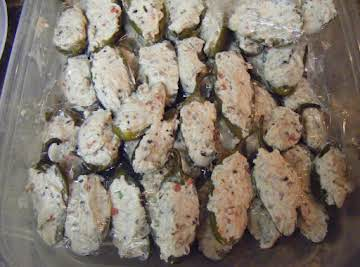 Aunt Gloria's Stuffed Jalapeno Peppers