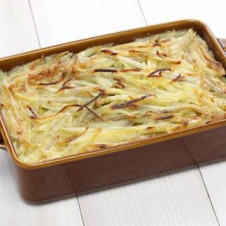 Cheesy Shoestring Potato Casserole