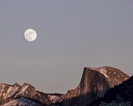 Photo: Full Moon Half Dome