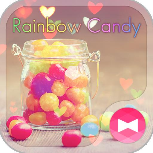 귀여운 테마 Rainbow Candy 個人化 App LOGO-APP開箱王