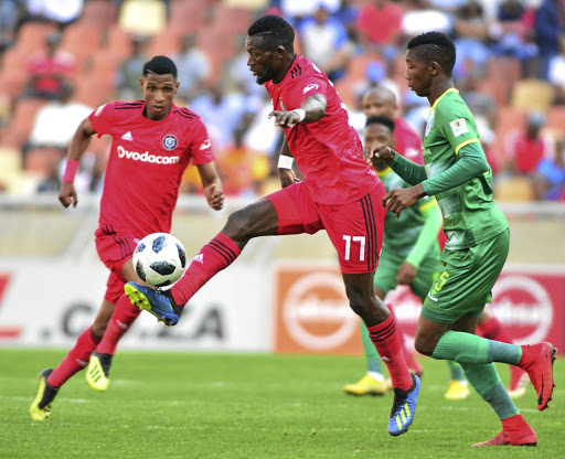 Orlando Pirates strikers Vincent Pule, left, and Augustine Mulenga have been on song but the defence needs work.