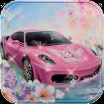 Theme Pink Lamborghini car