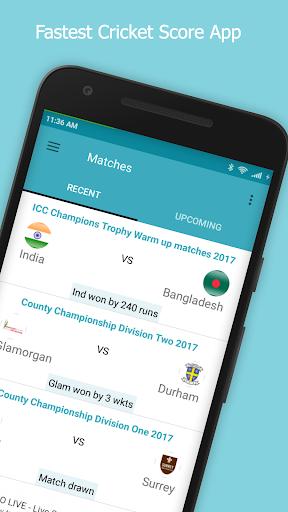 Live Cricket Score 2018 2.2 screenshots 1