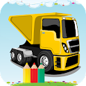Truck coloring Book icon