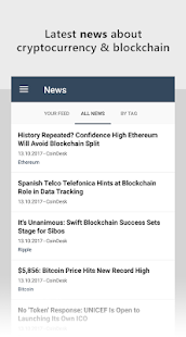 Bitcoin & Cryptocurrency News Feed - náhled