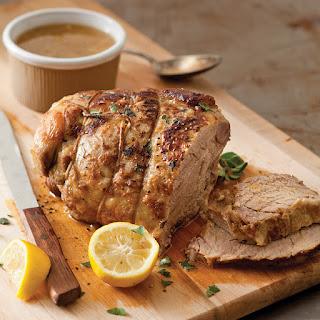 Slow-Cooked Pork Shoulder with Lemon and Garlic Recipe
