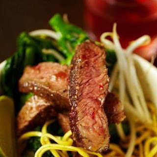 Jamie Oliver's rib-eye stir-fry with dan dan noodles.