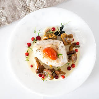 Chicken fillet with Chanterelle.