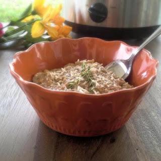 Slow-Cooker Mushroom and Chicken Quinoa.