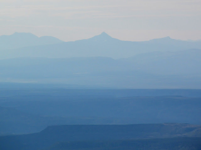 Lone Cone in the San Miguel Mountains of Colorado, 65 miles distant