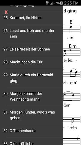 android Advents- und Weihnachtslieder Screenshot 2