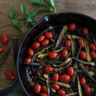 Okra & Cherry Tomato Stir Fry