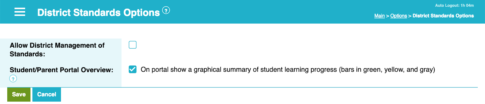 Visualizations Added to Standards-based Learning (SBL) Parent Portal