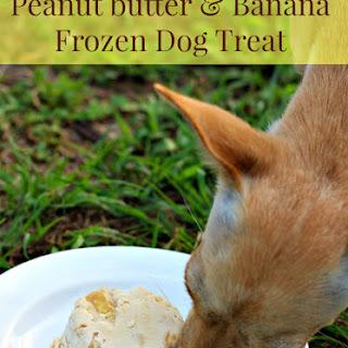 Frozen Banana and Peanut Butter Dog Treat