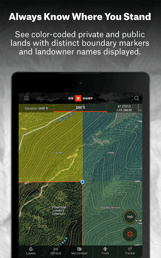 OnX Hunt Maps Hunting GPS Offline US Topo Maps Android Apps - Us forest service topographic maps