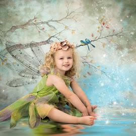 Little Fairy  by Jude Stewart - Babies & Children Child Portraits ( child, magic, girl, fairy,  )