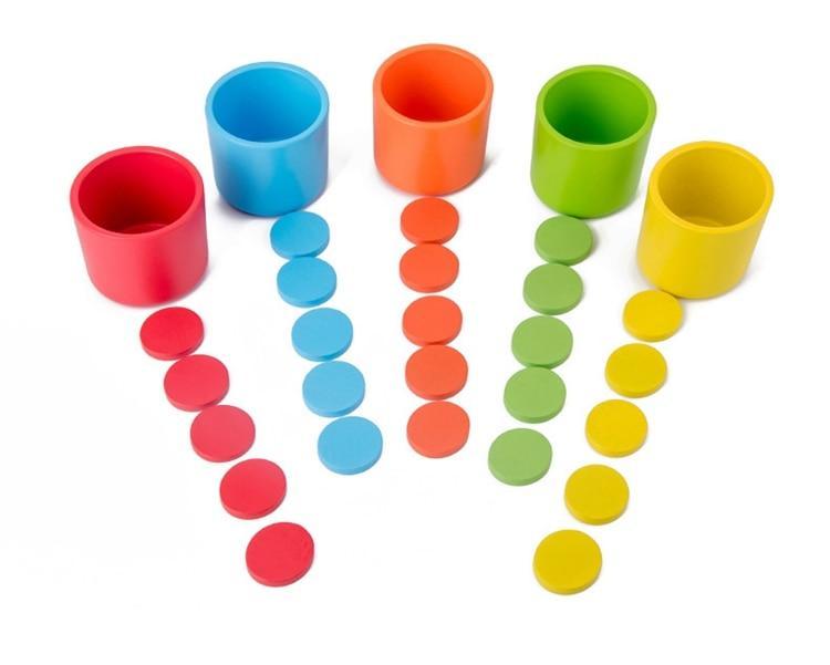 activités de tri couleur jeton trier jeu en bois