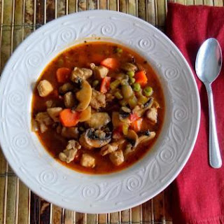 Easy Low Carb Chicken and Mushroom Stew.