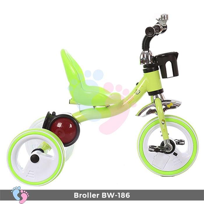 Xe đạp 3 bánh Broller XD3-186 có đèn bánh xe 8