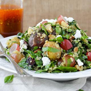 Quinoa Roasted Vegetable Chopped Salad {Thai Chili Vinaigrette}.