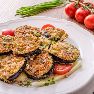 Homemade Oven-Fried Eggplant.