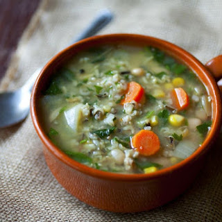 Turkey Sausage Soup with White Beans and Wild Rice