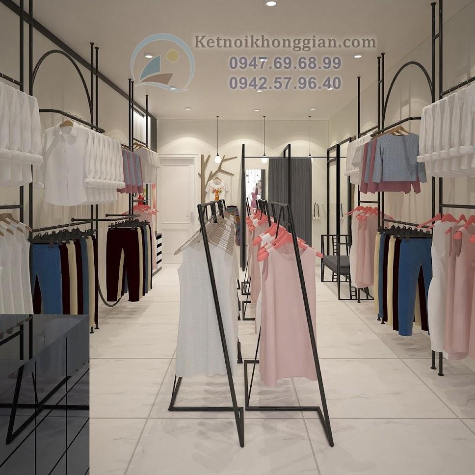thiết kế shop thời trang công sở nhỏ gọn
