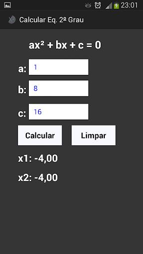 Calcular Eq. 2º Grau