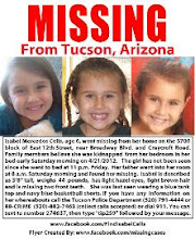 Photo: Add to your avatar,blogs,twitter,facebook....share everywhere! Time is of the essence...Isabel has been missing since 4/21 and last seen on Friday at 11pm in her bed in Tucson,AZ.